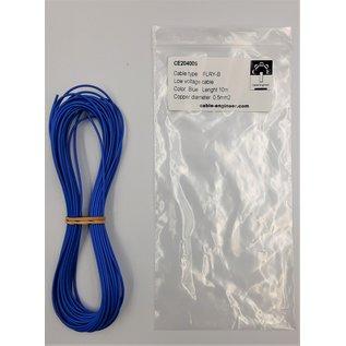 Cable-Engineer FLRY-B kabel 0,50mm2 - flexibele voertuigkabel - 10 meter Kleur Blauw