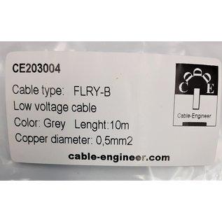Cable-Engineer FLRY-B kabel 0,50mm2 - flexibele voertuigkabel - 10 meter Kleur Grijs