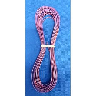 Cable-Engineer FLRY-B kabel 0,50mm2 - flexibele voertuigkabel - 10 meter Kleur Paars/Rood