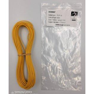 Cable-Engineer FLRY-B kabel 0,75mm2 - flexibele voertuigkabel - 10 meter Kleur Geel