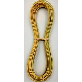 Cable-Engineer 0,75mm2 - FLRY-B kabel - 10 meter - Geel/Groen