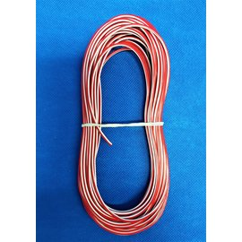 Cable-Engineer 1,5mm2 - FLRY-B kabel - 10 meter - Rood/Wit