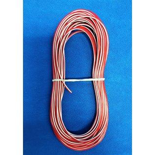 Cable-Engineer FLRY-B kabel 1,5mm2 - flexibele voertuigkabel - 10 meter Kleur Rood/Wit