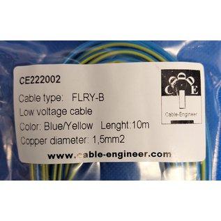 Cable-Engineer FLRY-B kabel 1,5mm2 - flexibele voertuigkabel - 10 meter Kleur Blauw/Geel