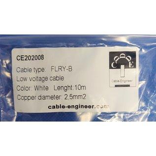 Cable-Engineer FLRY-B kabel 2,5mm2 - flexibele voertuigkabel - 10 meter Kleur Wit