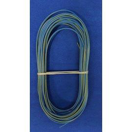 Cable-Engineer 1,0mm2 - FLRY-B kabel - 10 meter - Blauw/Geel