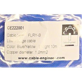 Cable-Engineer FLRY-B kabel 1,0mm2 - flexibele voertuigkabel - 10 meter Kleur Blauw/Geel