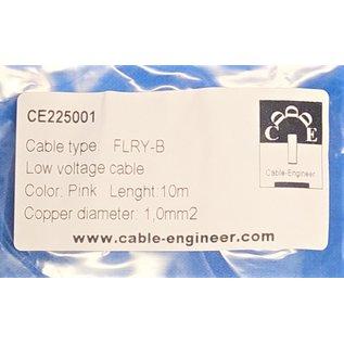 Cable-Engineer FLRY-B kabel 1,0mm2 - flexibele voertuigkabel - 10 meter Kleur Roze