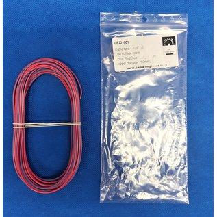 Cable-Engineer FLRY-B kabel 1,0mm2 - flexibele voertuigkabel - 10 meter Kleur Rood/Blauw