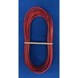 Cable-Engineer 1,0mm2 - FLRY-B kabel - 10 meter - Rood/Zwart