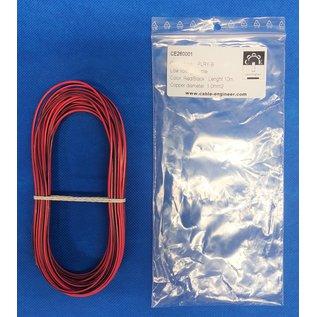 Cable-Engineer FLRY-B kabel 1,0mm2 - flexibele voertuigkabel - 10 meter Kleur Rood/Zwart