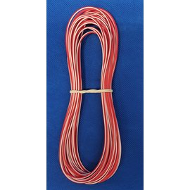 Cable-Engineer 1,0mm2 - FLRY-B kabel - 10 meter - Rood/Wit