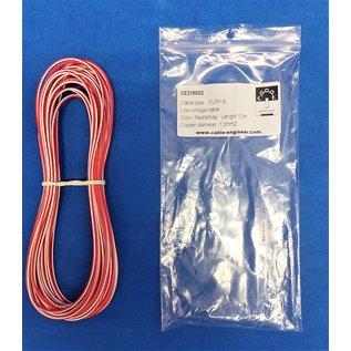 Cable-Engineer FLRY-B kabel 1,0mm2 - flexibele voertuigkabel - 10 meter Kleur Rood/Wit