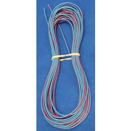 Cable-Engineer 0,75mm2 - FLRY-B kabel - 10 meter Blauw/Rood