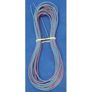 Cable-Engineer FLRY-B kabel 0,75mm2 - flexibele voertuigkabel - 10 meter Kleur Blauw/Rood