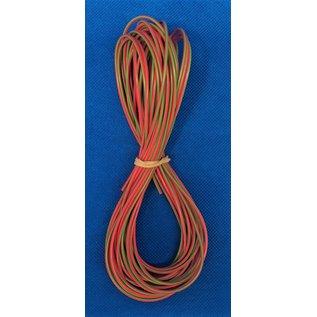 Cable-Engineer FLRY-B kabel 0,75mm2 - flexibele voertuigkabel - 10 meter Kleur Rood/Groen
