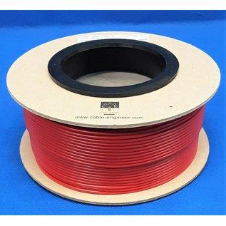 Cable-Engineer FLRY-B kabel 1,5mm2 - flexibele voertuigkabel  op rol met 50 meter - Kleur ROOD