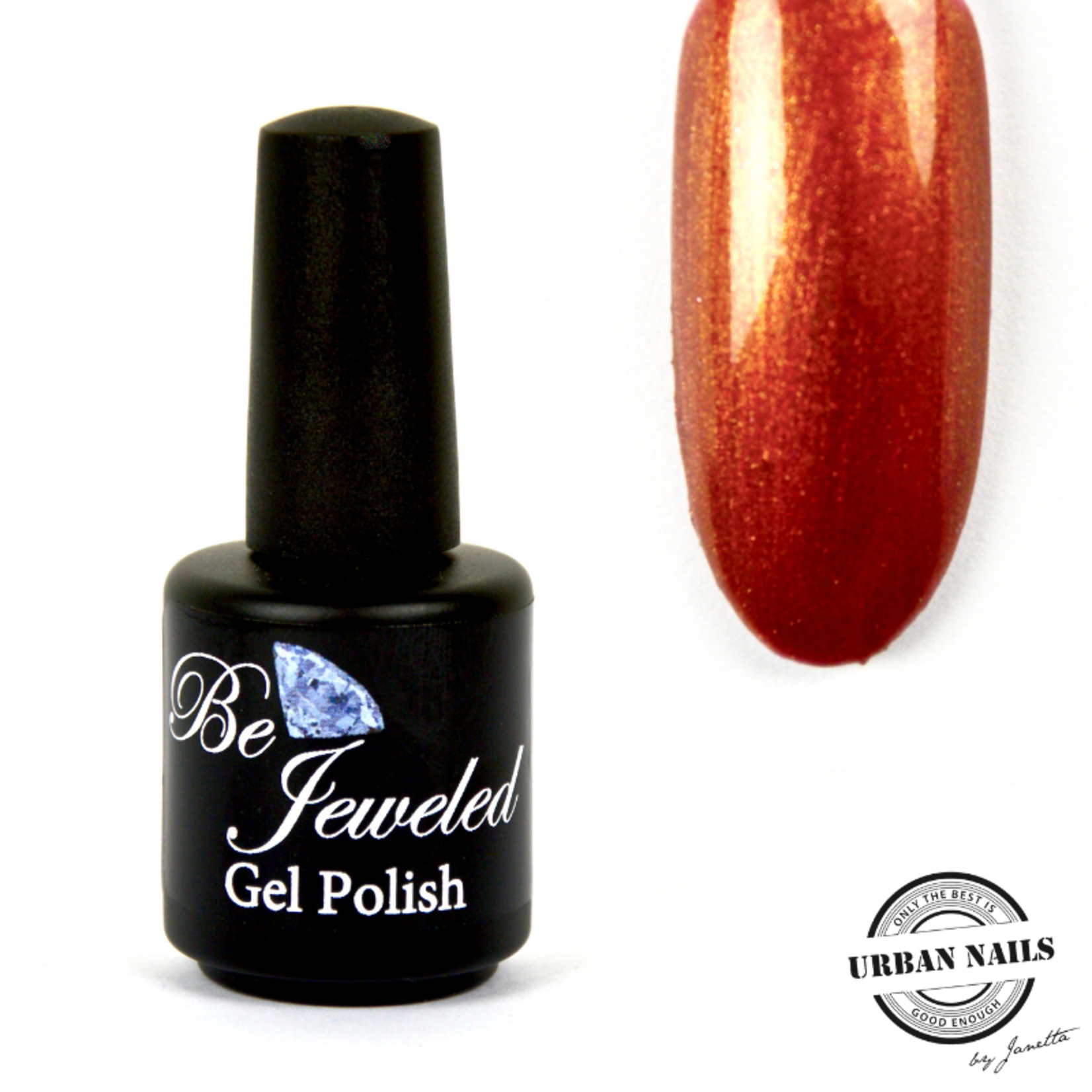 Urban Nails Be Jeweled Gelpolish 29 Koper Bruin Met Shimmer