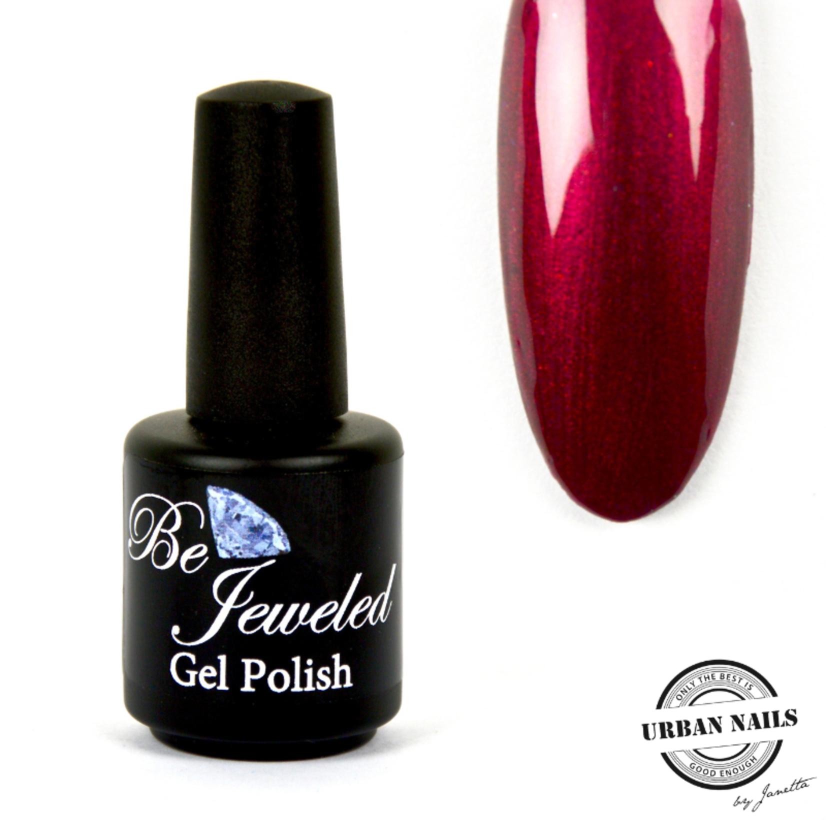 Urban Nails Be Jeweled Gelpolish 34 Bordeaux Met Shimmer