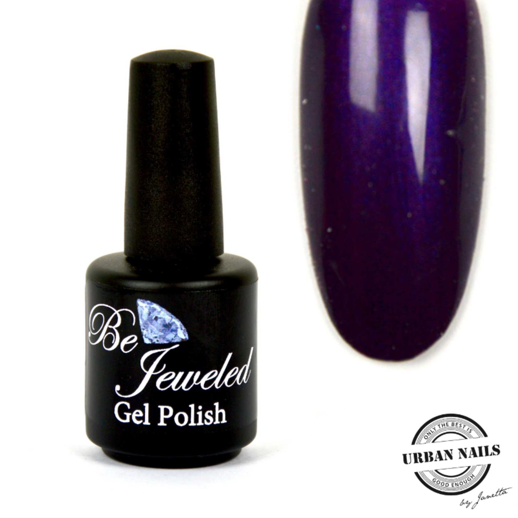 Urban Nails Be Jeweled Gelpolish 60 Donker Paars Met Shimmer
