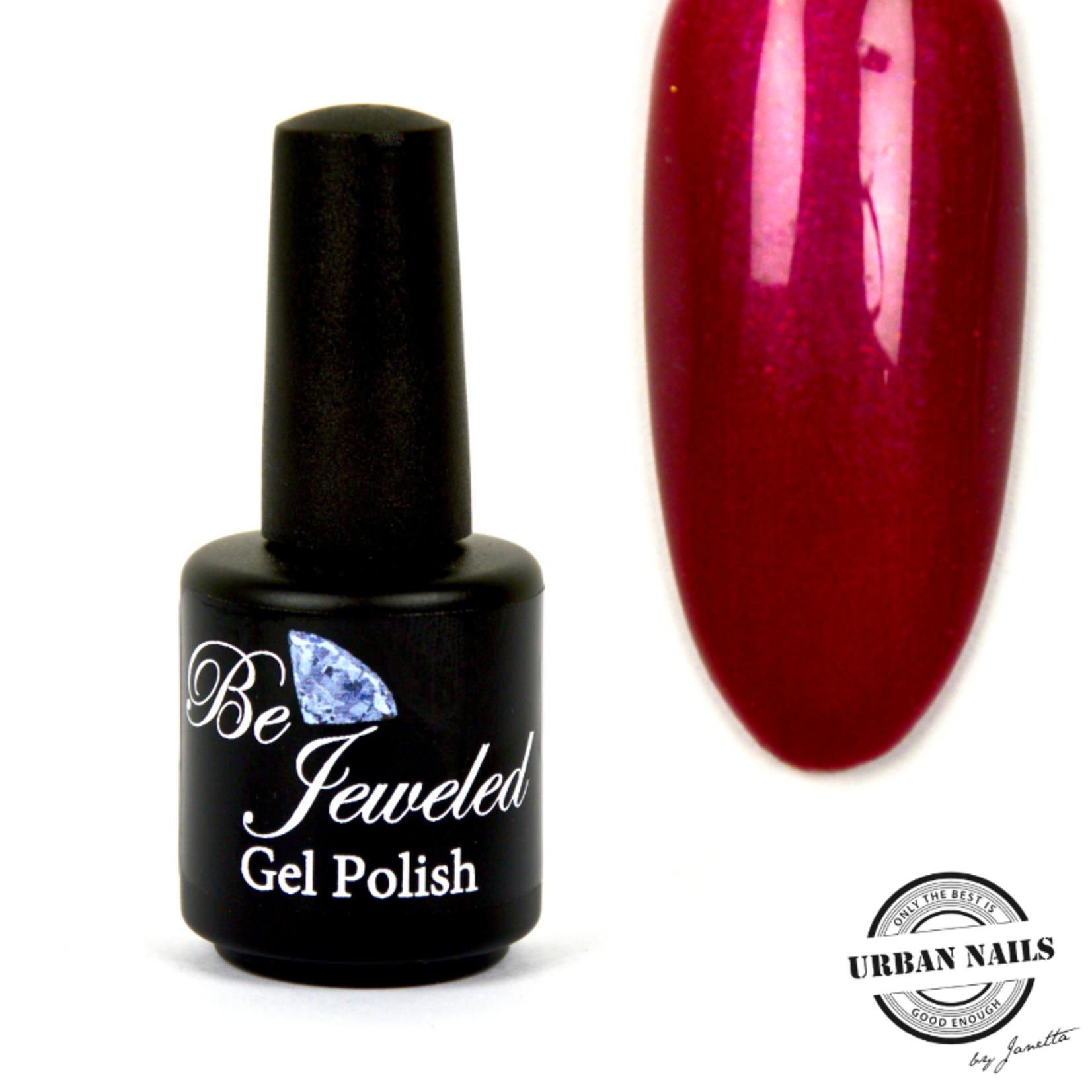 Urban Nails Be Jeweled Gelpolish 61 Donker Rood Roze Met Shimmer