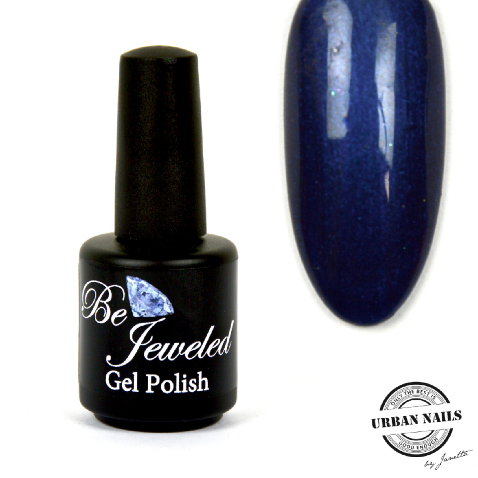 Urban Nails Be Jeweled Gelpolish 64 Donker Blauw Met Shimmer