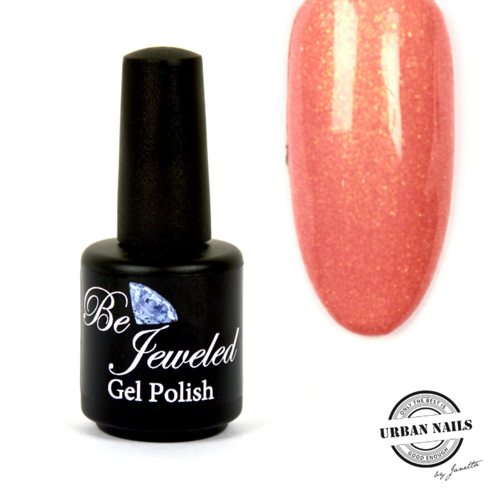 Urban Nails Be Jeweled Gelpolish 67 Zalm Met Gouden Shimmer