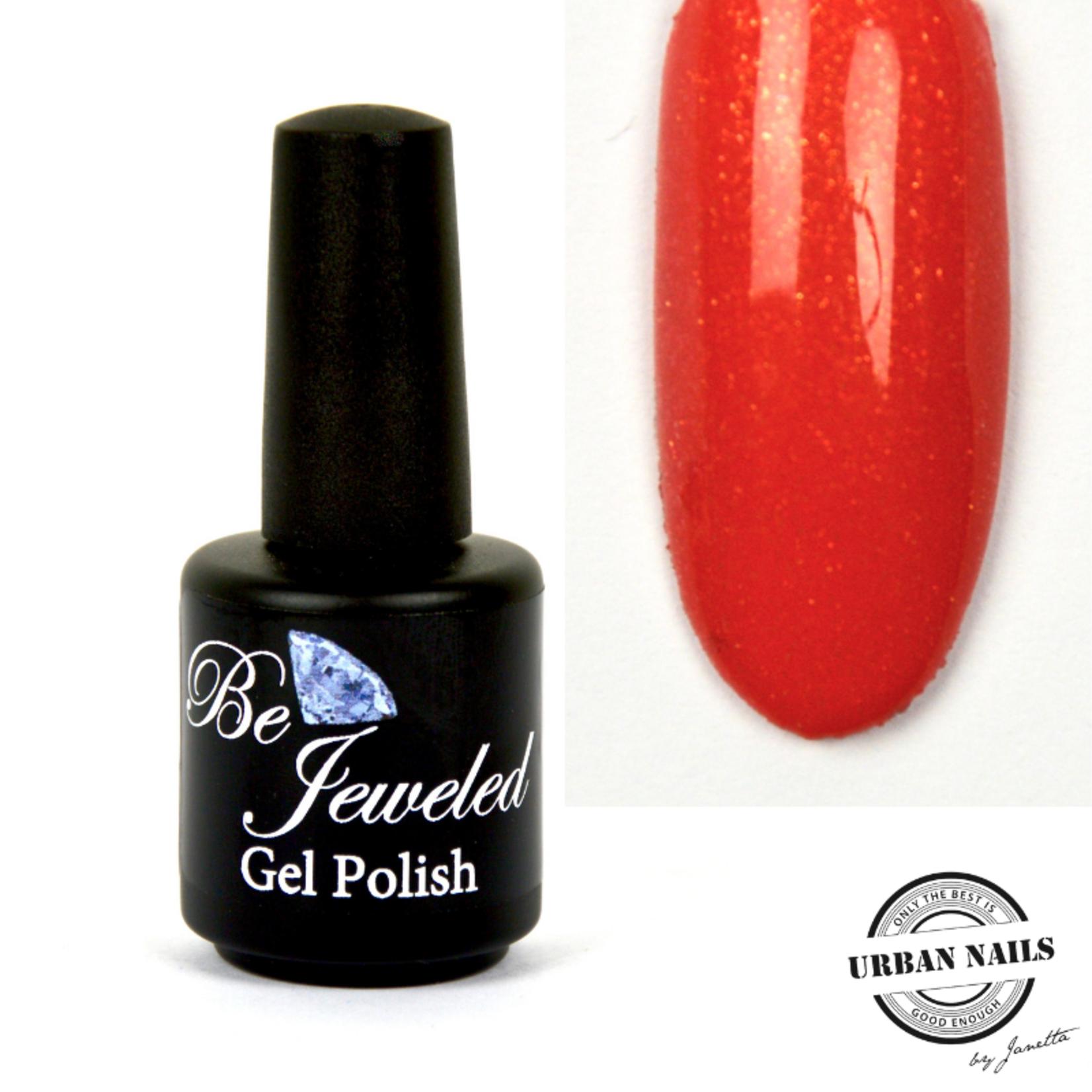 Urban Nails Be Jeweled Gelpolish 68 Koraal Met Gouden Shimmer