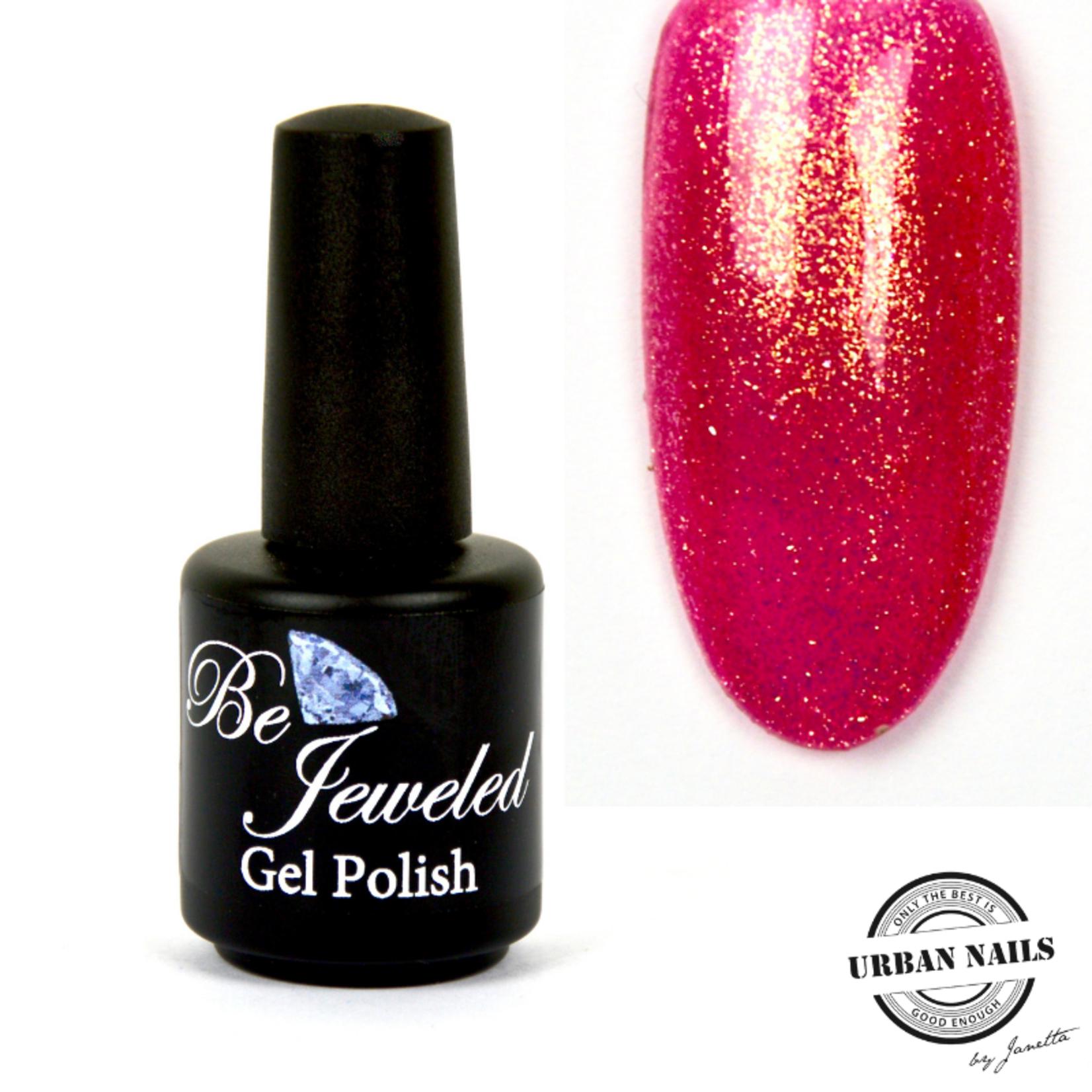 Urban Nails Be Jeweled Gelpolish 69 Fel Roze Glitter
