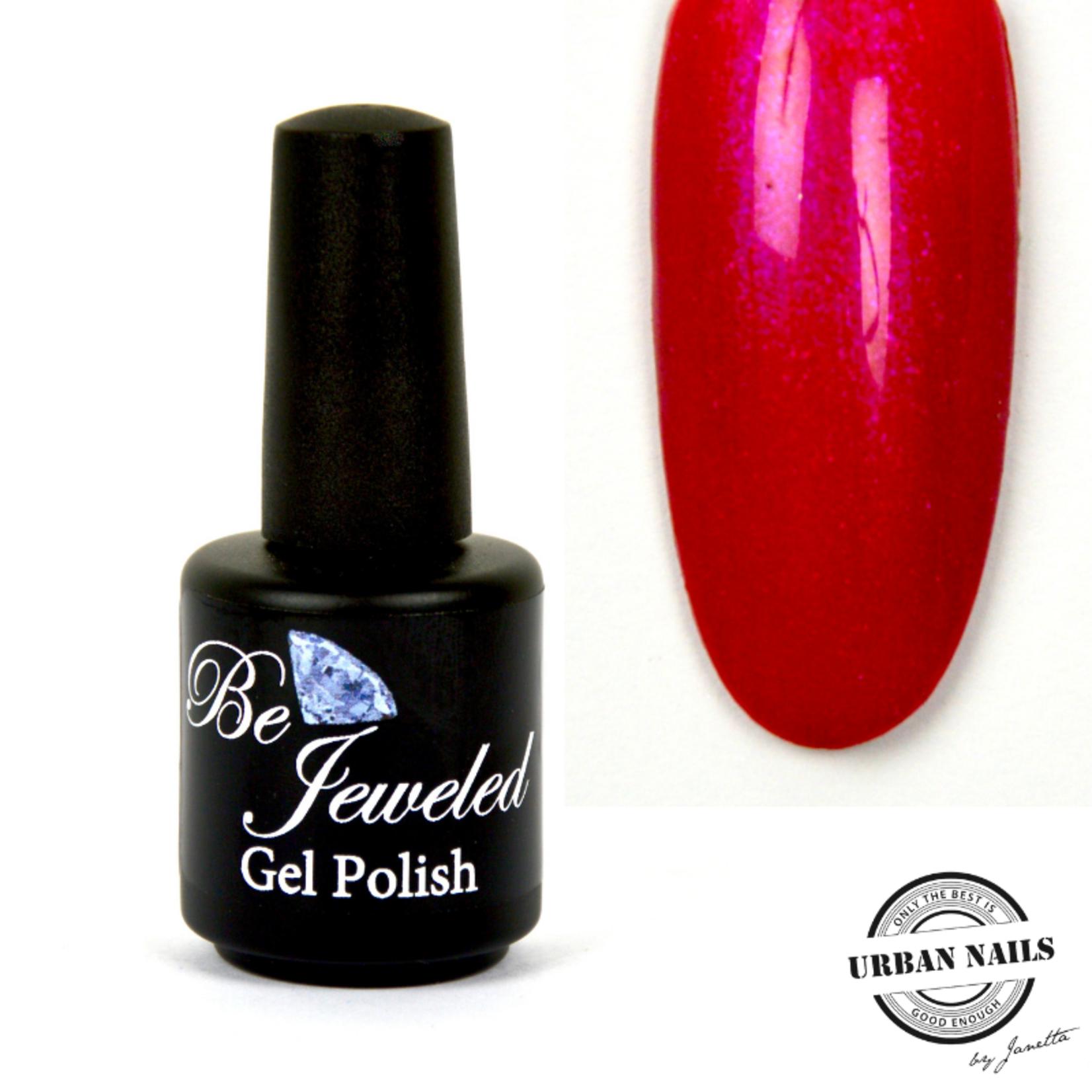 Urban Nails Be Jeweled Gelpolish 71 Rood Roze Met Shimmer