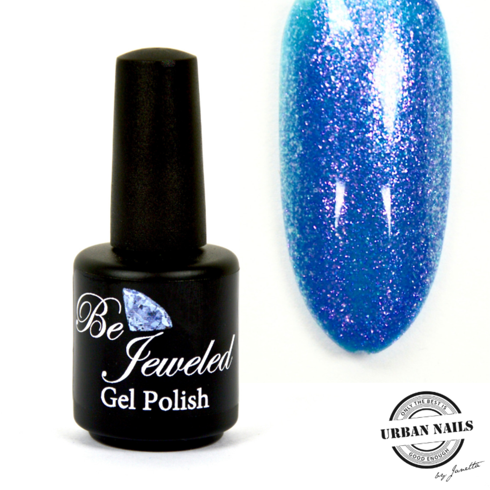Urban Nails Be Jeweled Gelpolish 138 Blauw Glitter