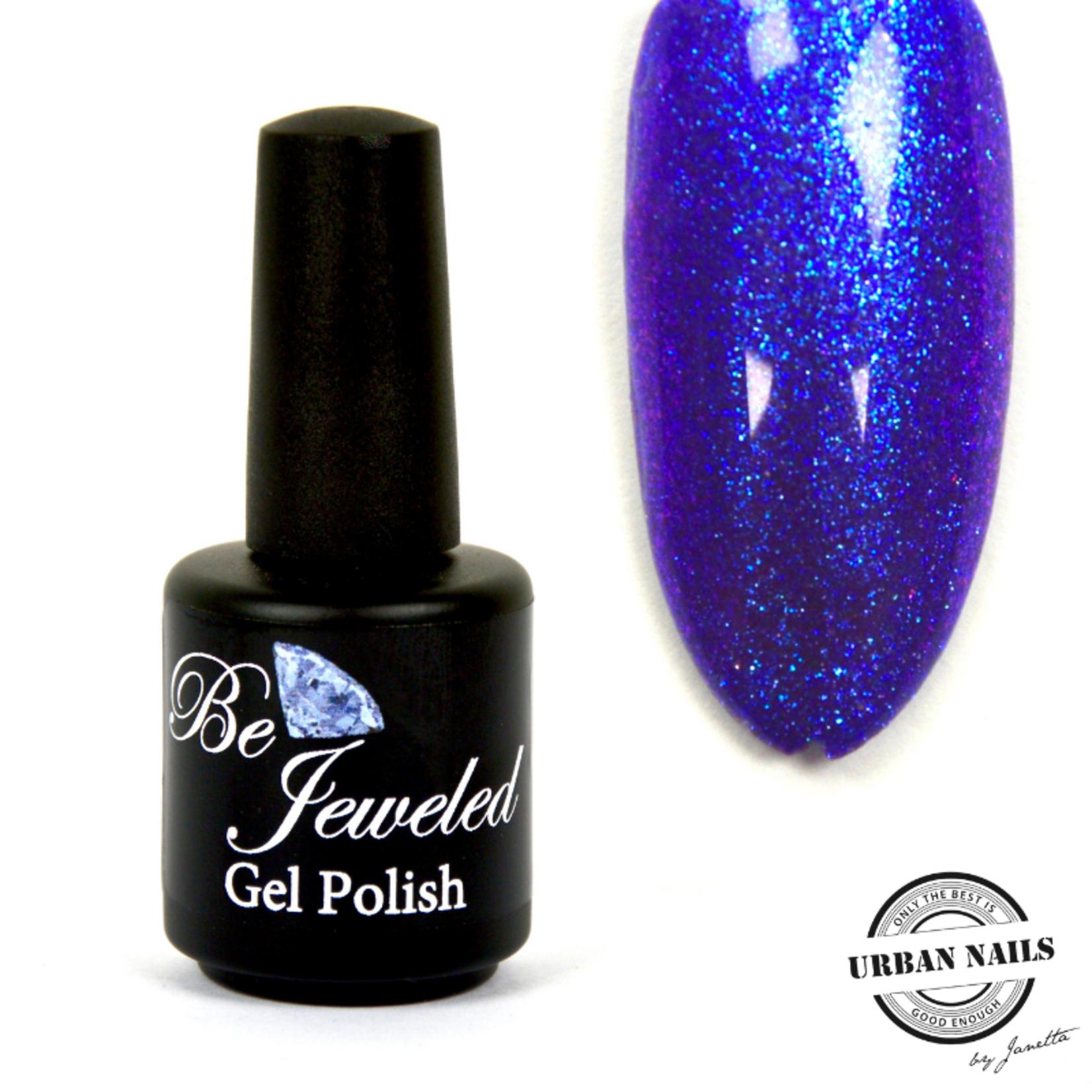 Urban Nails Be Jeweled Gelpolish 139 Blauw Glitter