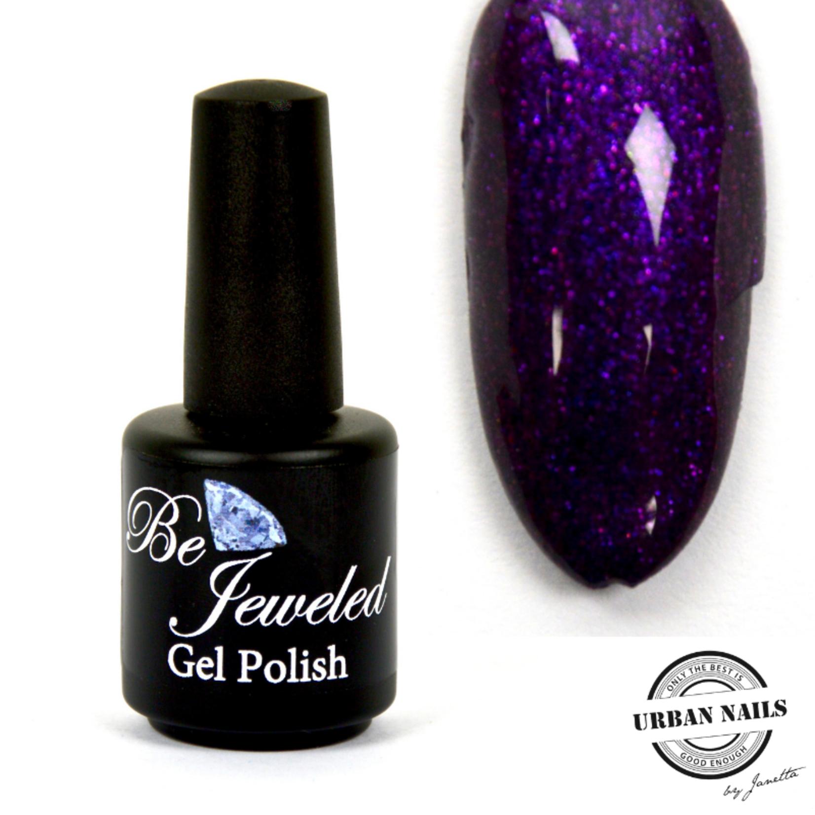 Urban Nails Be Jeweled Gelpolish 140 Donker Paars Glitter