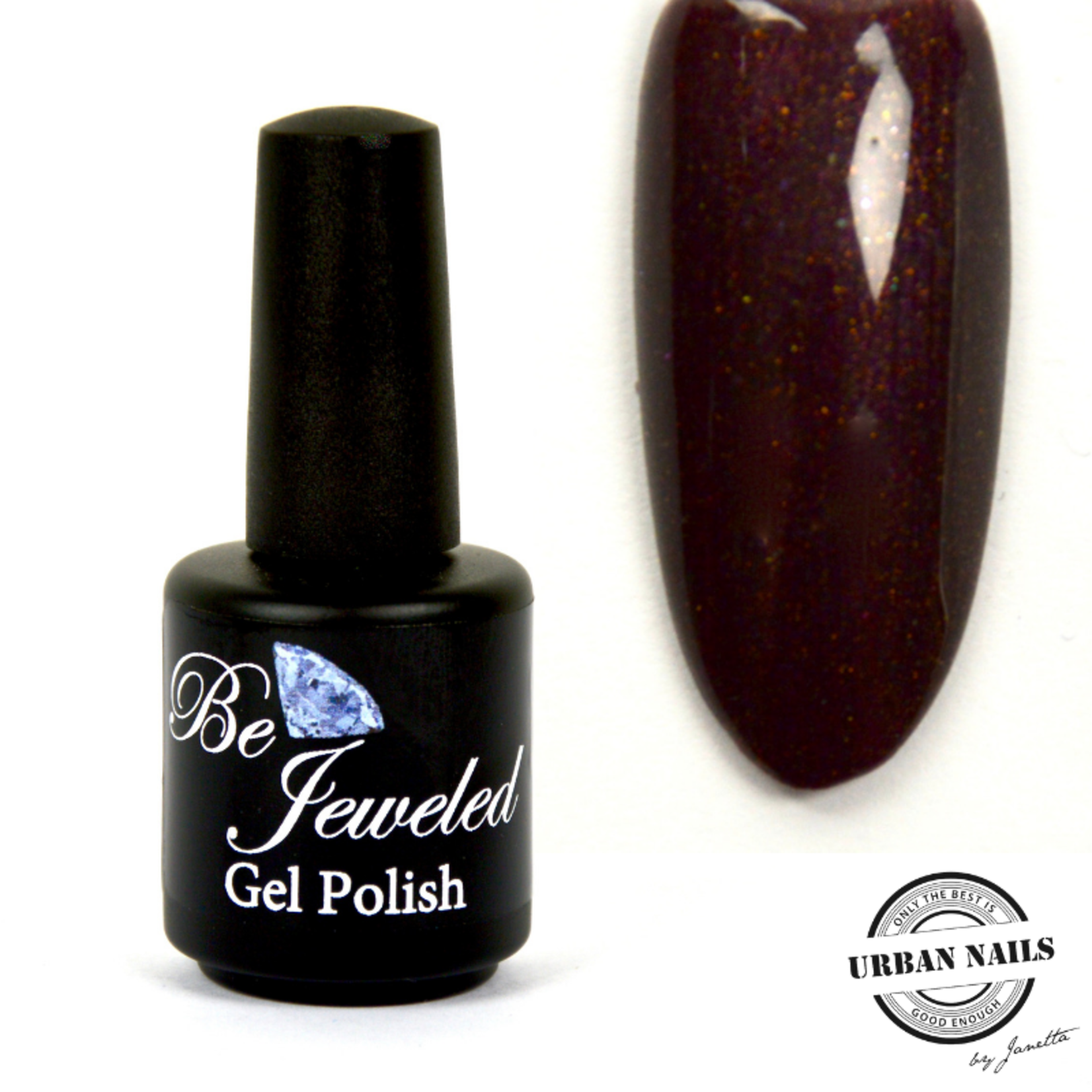 Urban Nails Be Jeweled Gelpolish 142 Diep Bruin Shimmer