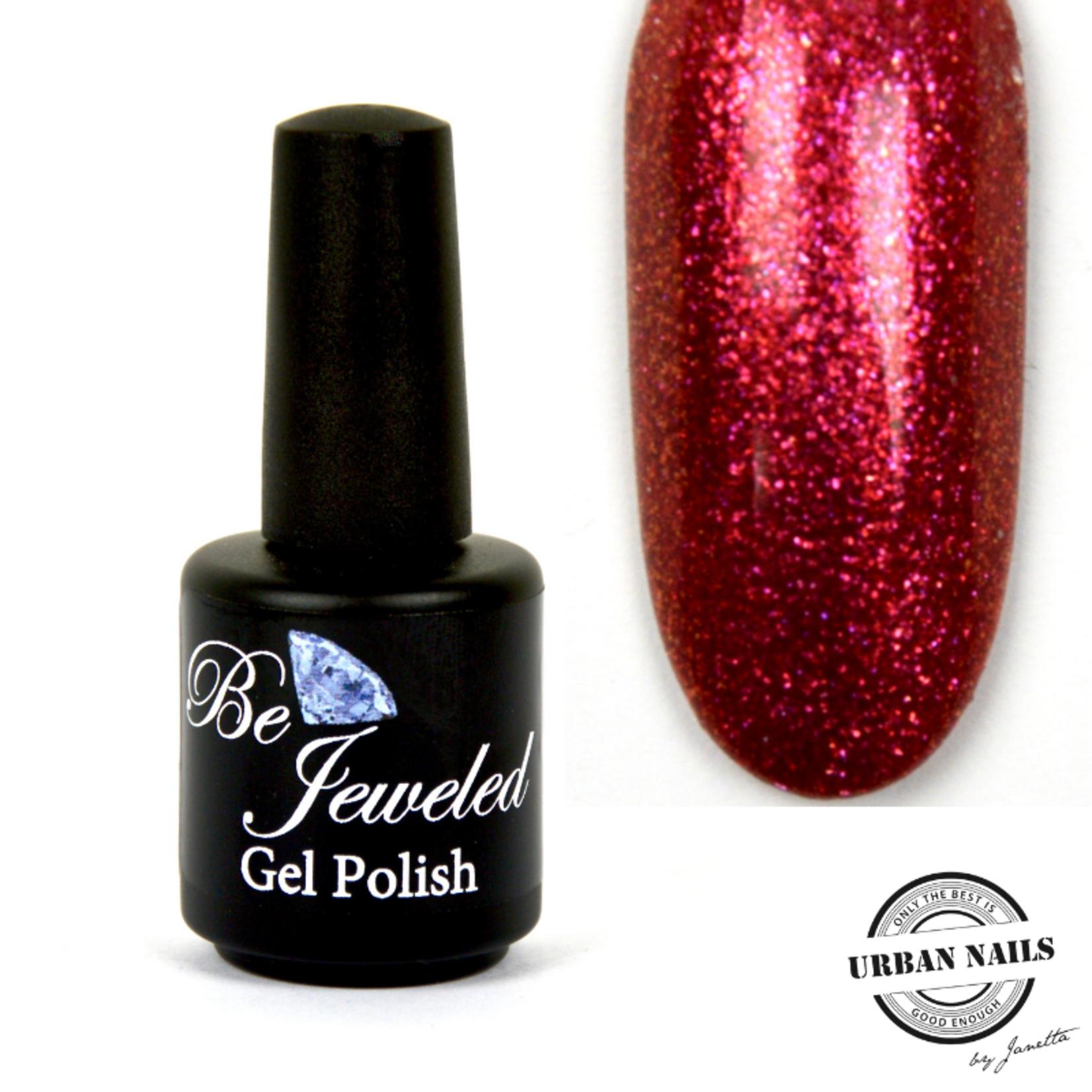 Urban Nails Be Jeweled Gelpolish 159 Fuchsia Glitter