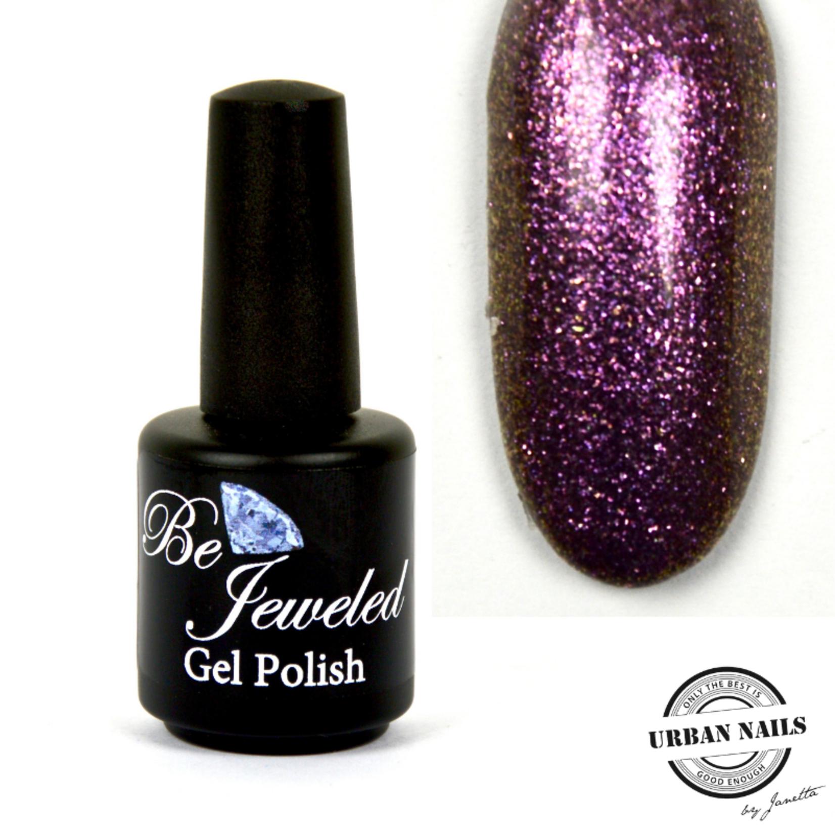 Urban Nails Be Jeweled Gelpolish 160 Donker Paars Glitter