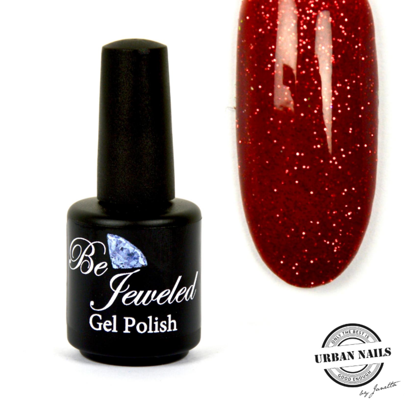Urban Nails Be Jeweled Gelpolish 162 Donker Rood Glitter