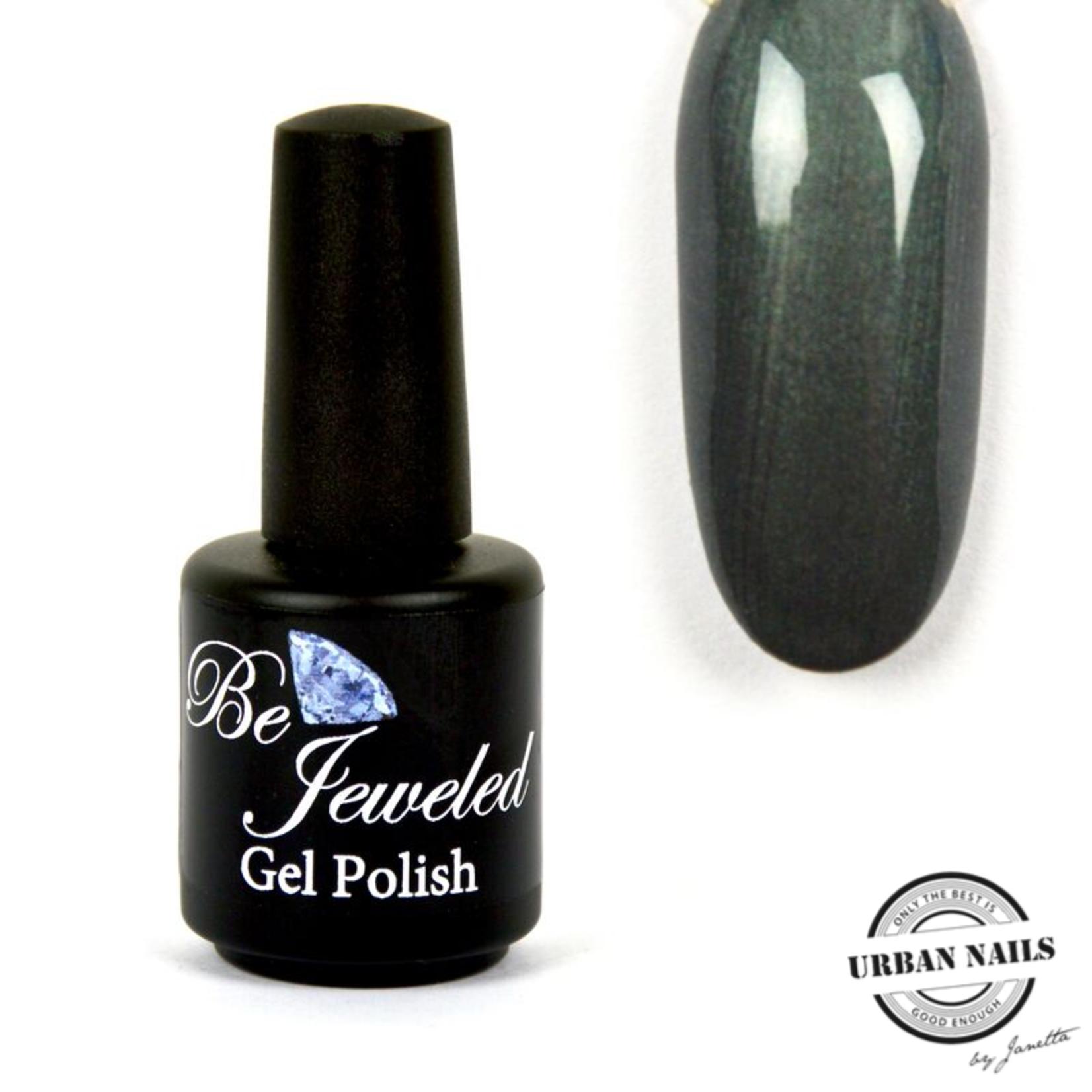 Urban Nails Be Jeweled Gelpolish 181 Antraciet Groen Shimmer