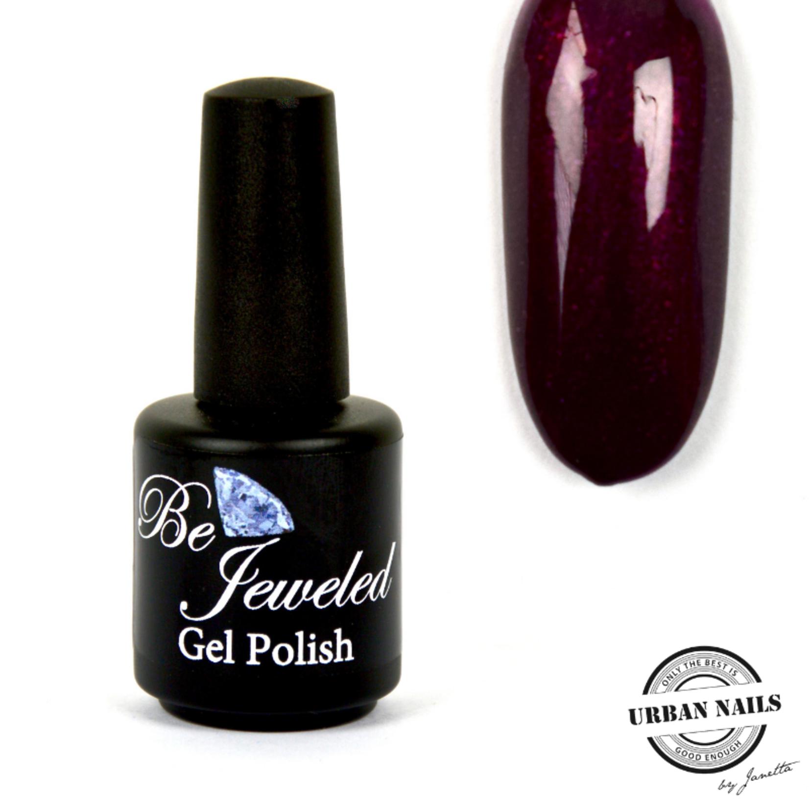 Urban Nails Be Jeweled Gelpolish 187 Donker Aubergine Glitter
