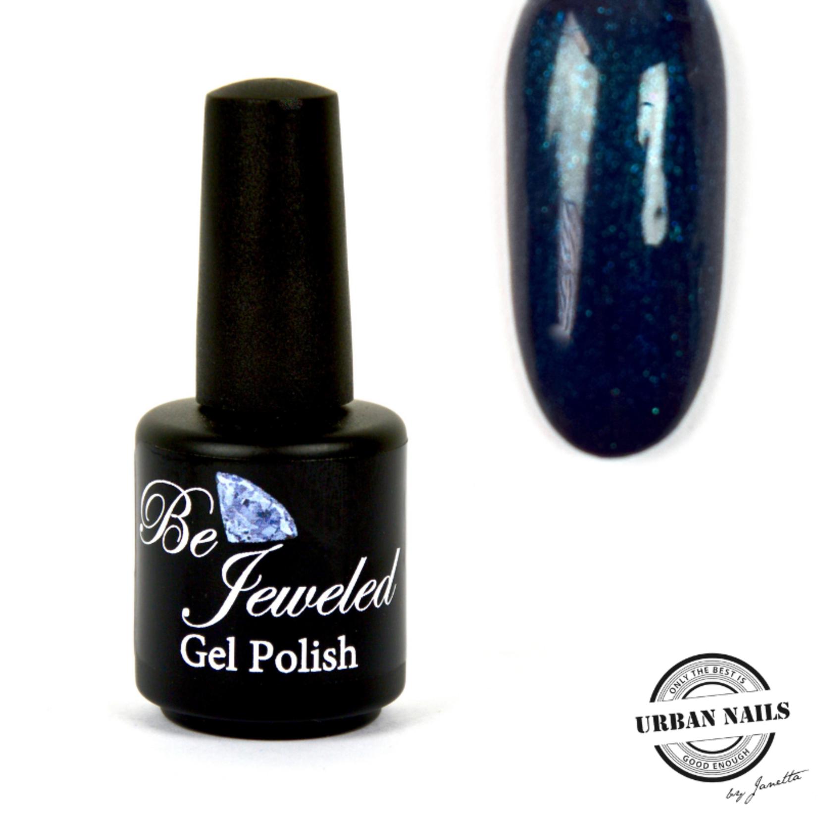 Urban Nails Be Jeweled Gelpolish 188 Donker Zeegroen Glitter