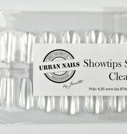 Urban Nails Showtips Square Clear