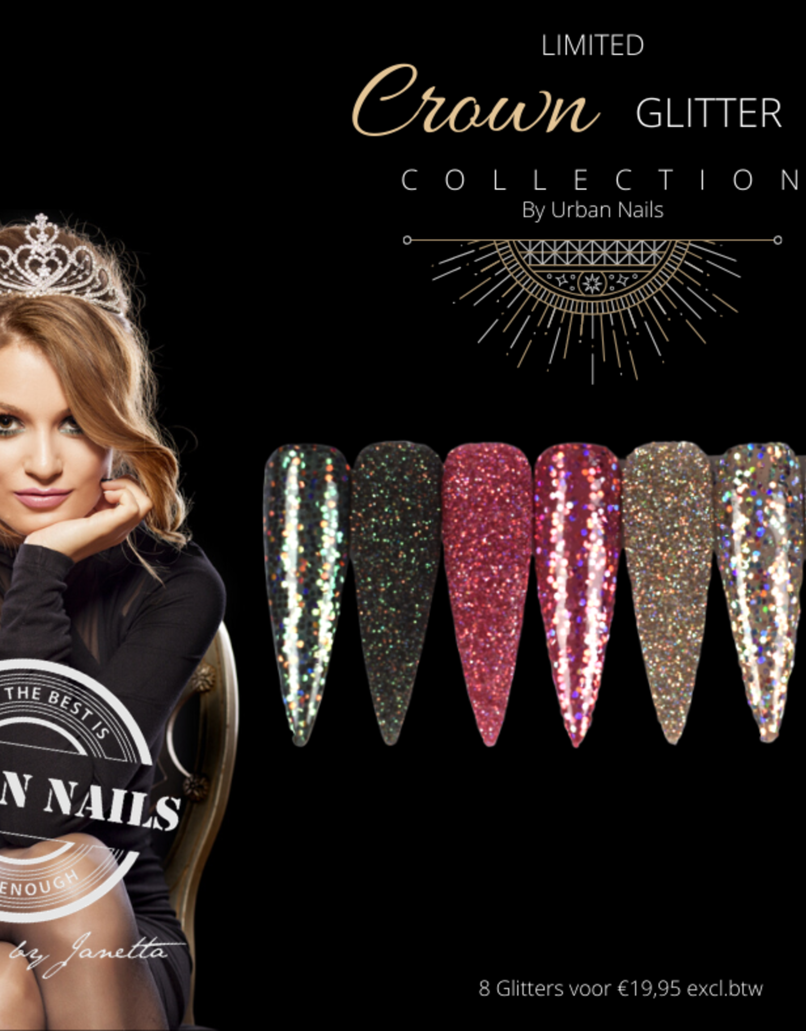 Urban Nails Crown Glitter Collection