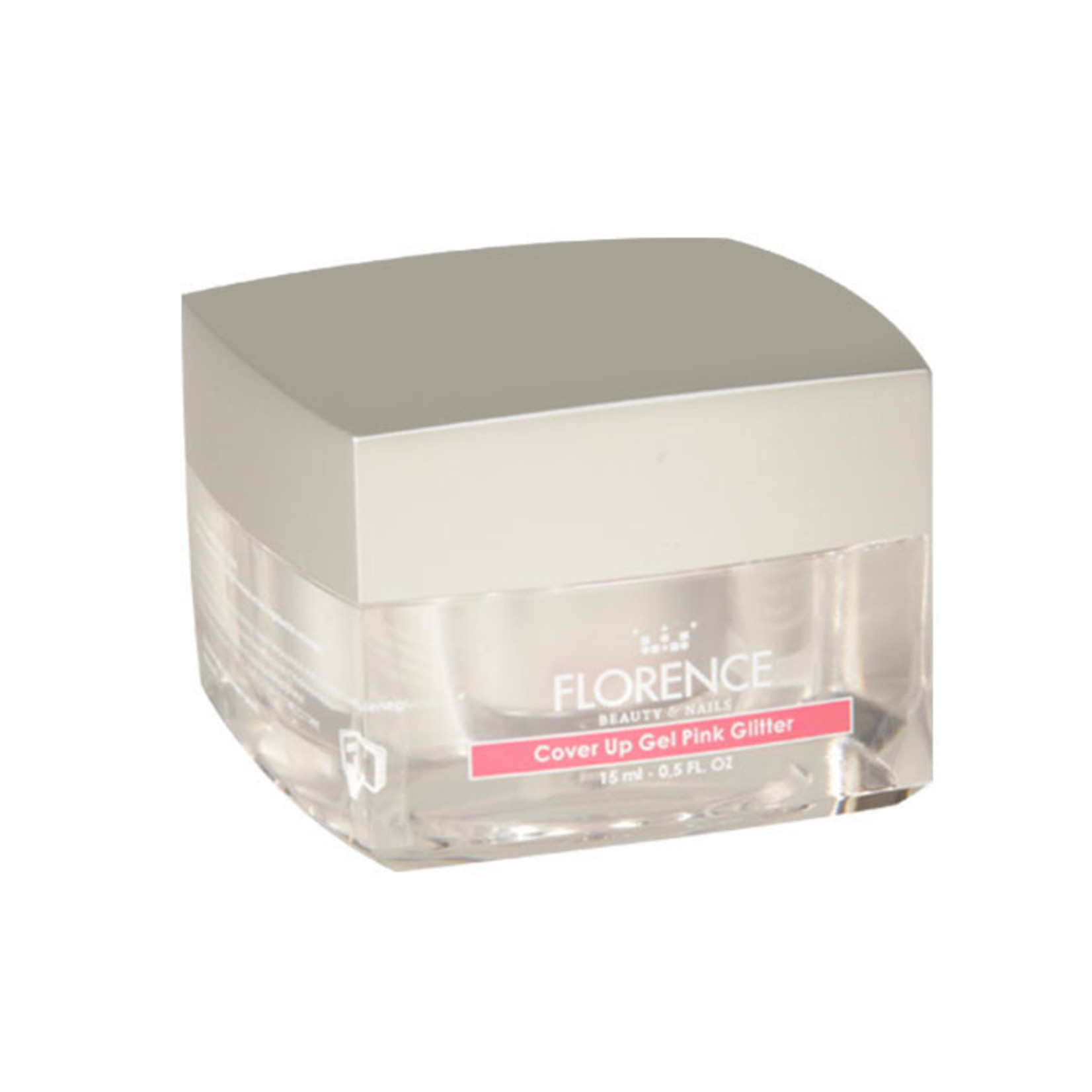 Florence Nails Cover Up Gel Pink Glitter 15 ml