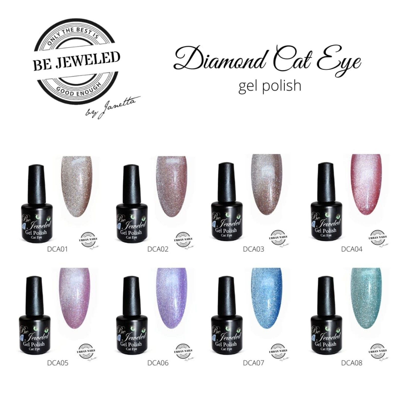 Urban Nails Be Jeweled Diamond Cateye 02 Nude