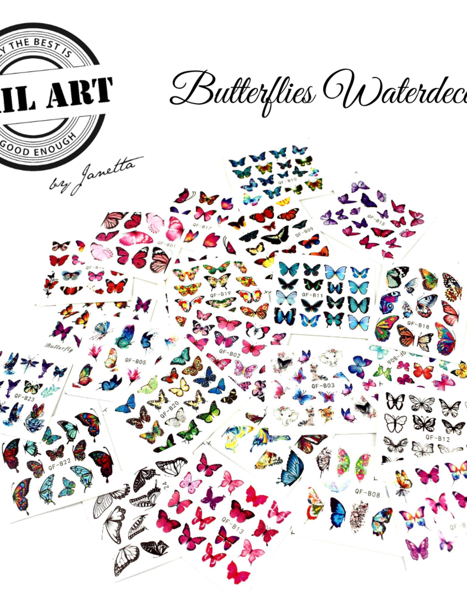 Urban Nails Butterfly Water Decal