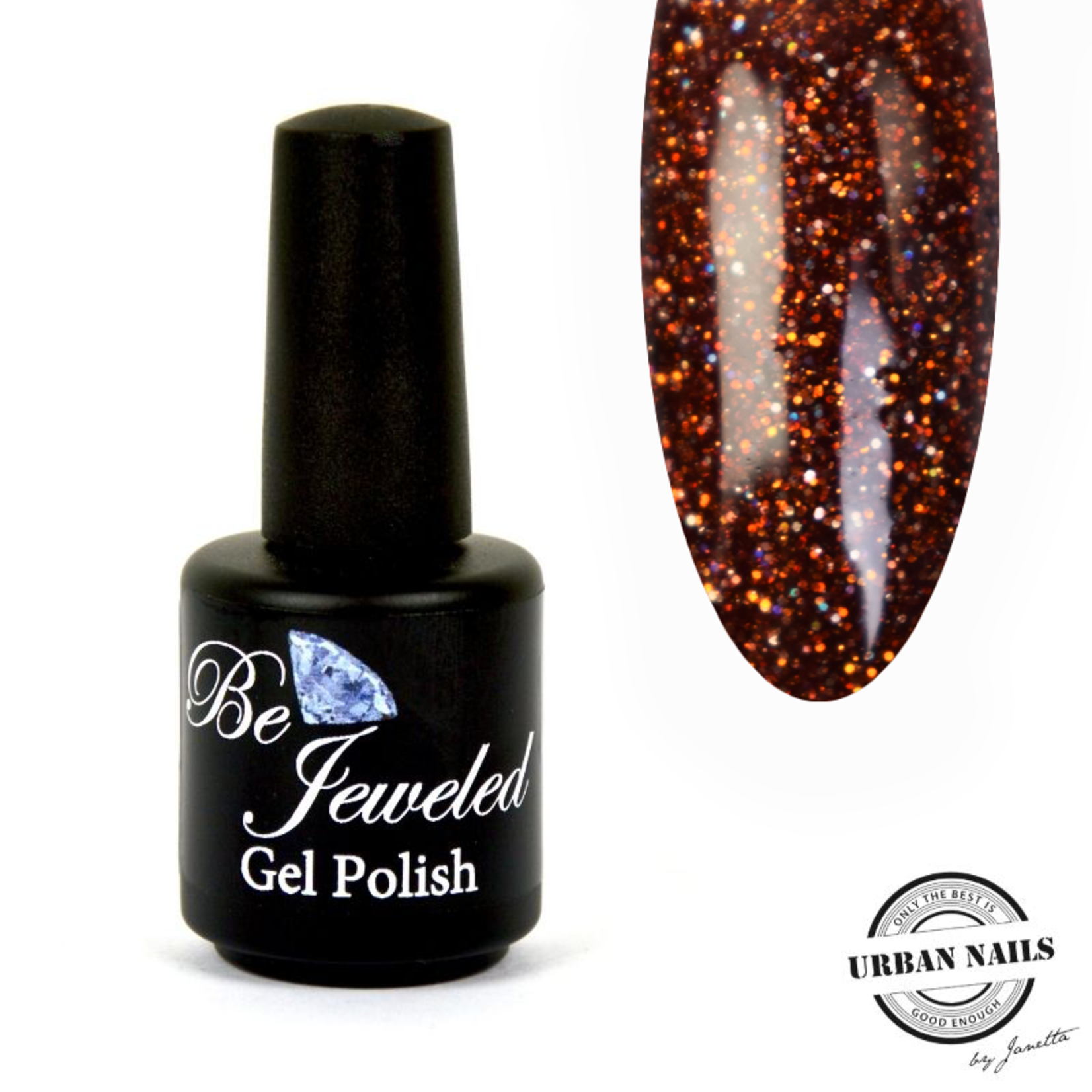 Urban Nails Be Jeweled Gelpolish 98 Koper Bruin Glitter