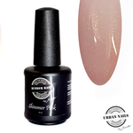 Urban Nails Rubber Base Shimmer Pink Gold flesje