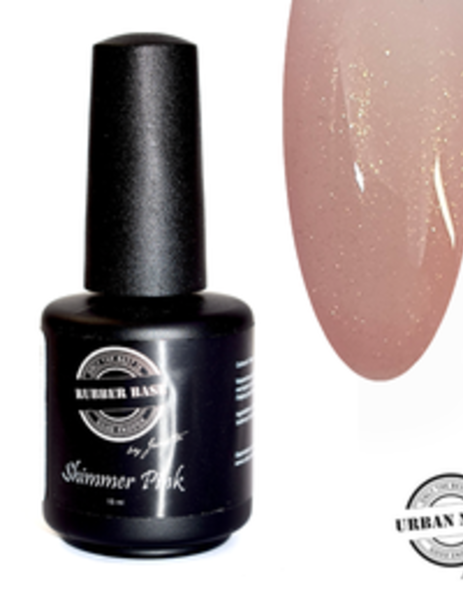Urban Nails Rubber Base Shimmer Pink Gold