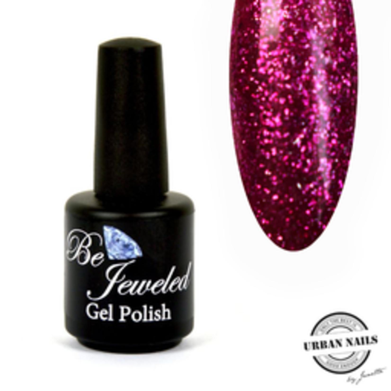 Urban Nails Be Jeweled Gelpolish 114 Fuchsia Glitter
