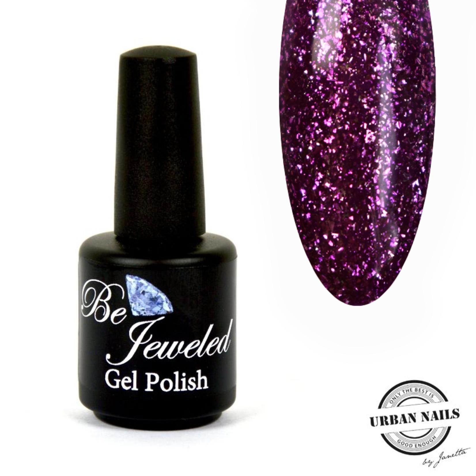Urban Nails Be Jeweled Gelpolish 113 Paars Glitter